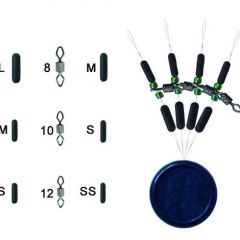Trabucco Diamant Rolling Green Beads & Stoppers M