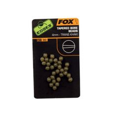 Fox Edges Tapered Bore Beads - 4mm
