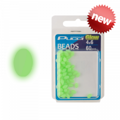 P-Line Pucci Soft Green Egg Glow Beads 6mm