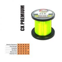 Fir fluorocarbon coated P-Line CX Premium Hi-Vis Fluorescent Green 0,35mm/14,81kg/1000m