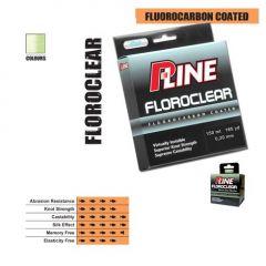 Fir fluorocarbon coated P-Line Floroclear Clear 0.13mm/2.775kg/50m