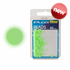 P-Line Pucci Soft Green Round Glow Beads 4mm