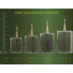 Momitor Drennan Oval Groundbait Feeder Standard Small 15gr - 2buc/plic