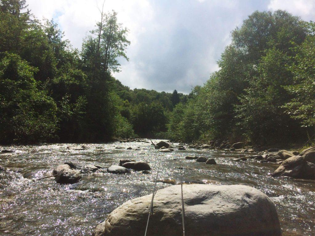 pescuit la pastrav -Valea Avrigului un rau superb