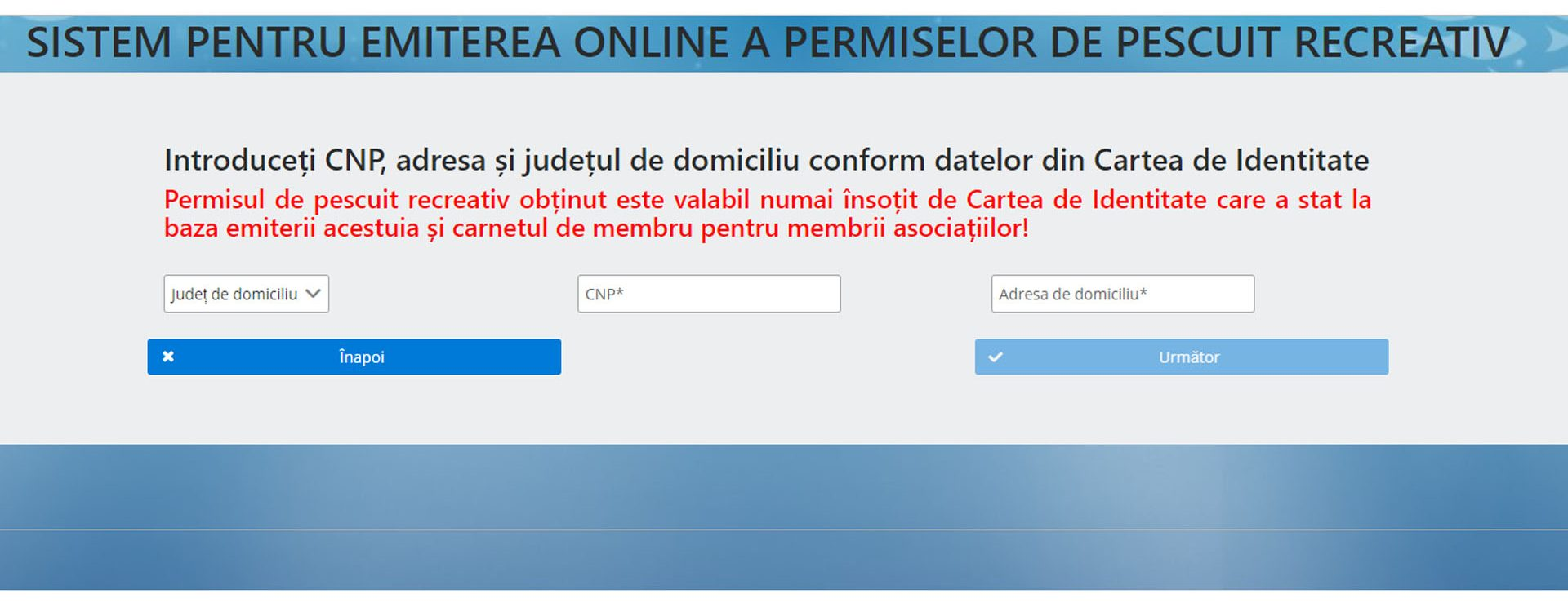 permis de pescuit on line