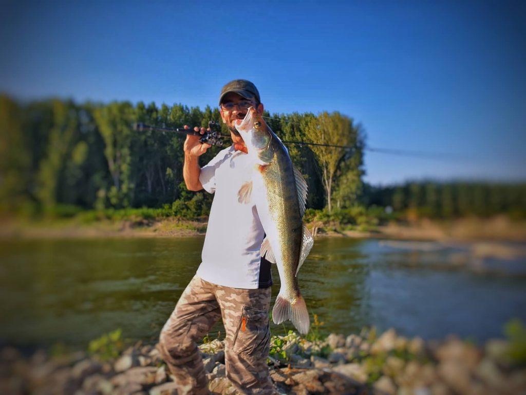 salau pescuit in Dunare