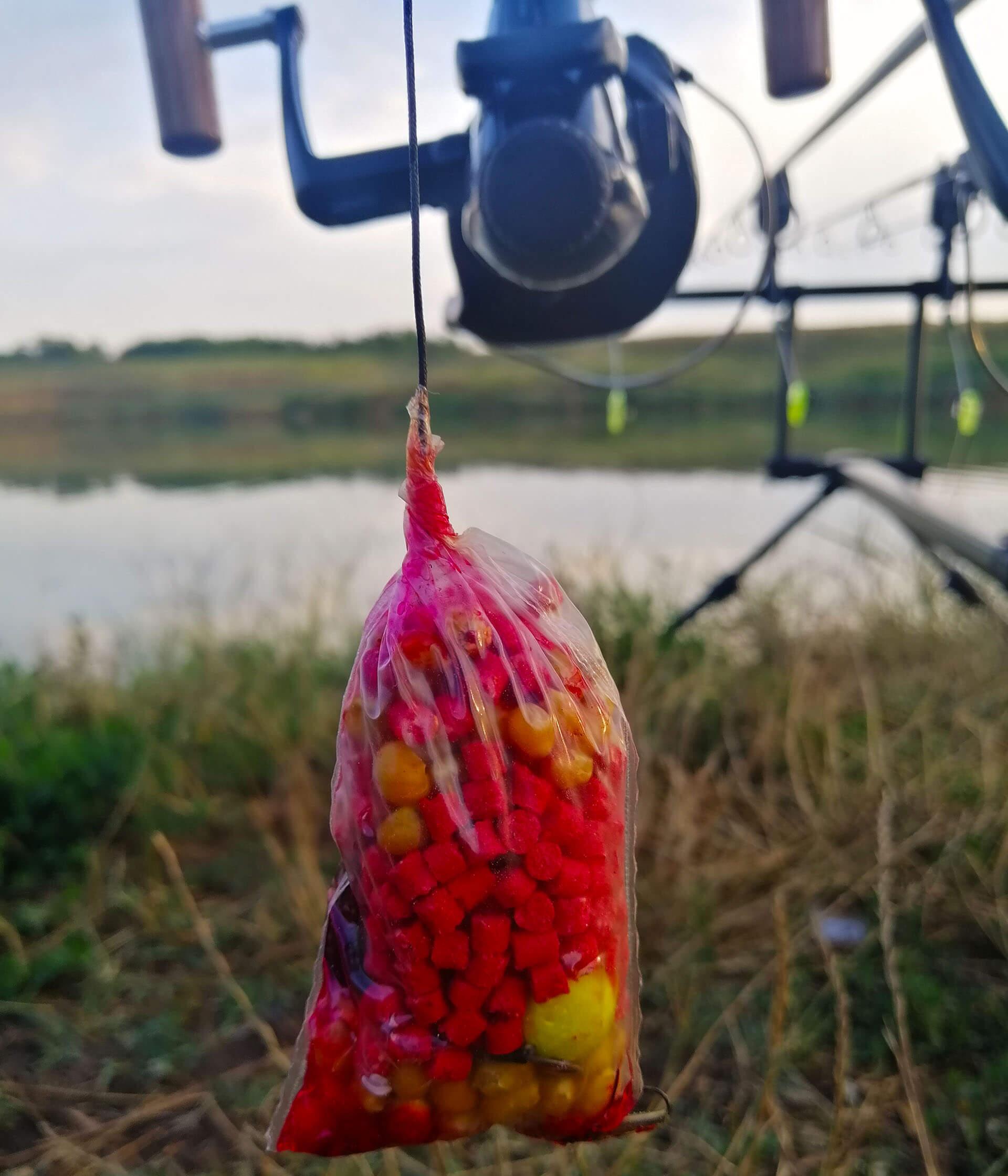 pescuit la crap cu punga solubila