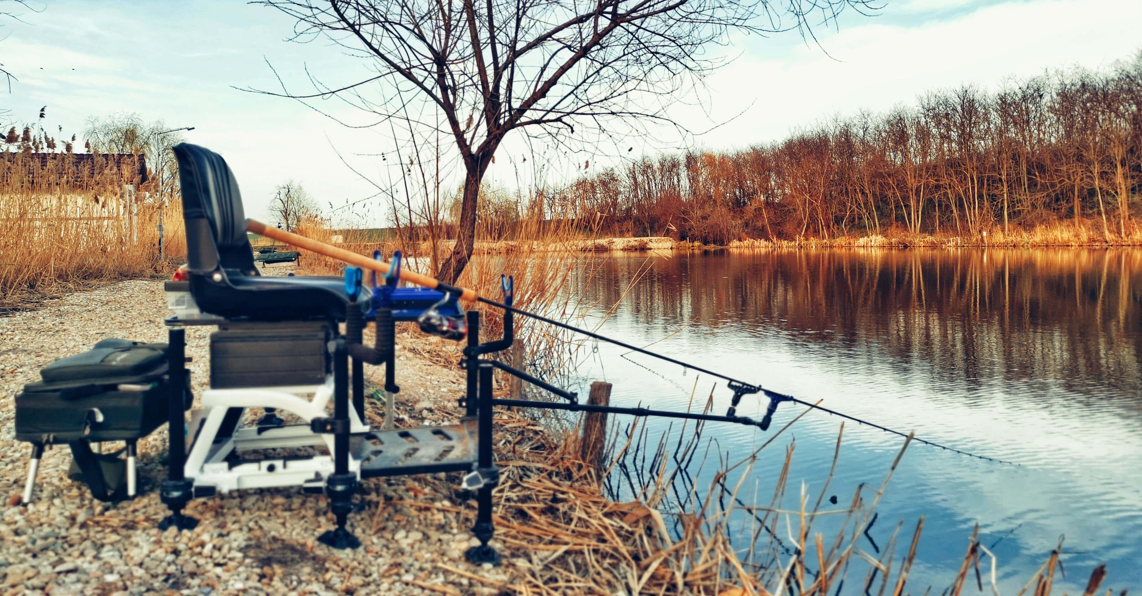 echipament pescuit la feeder pe Dyno Lake