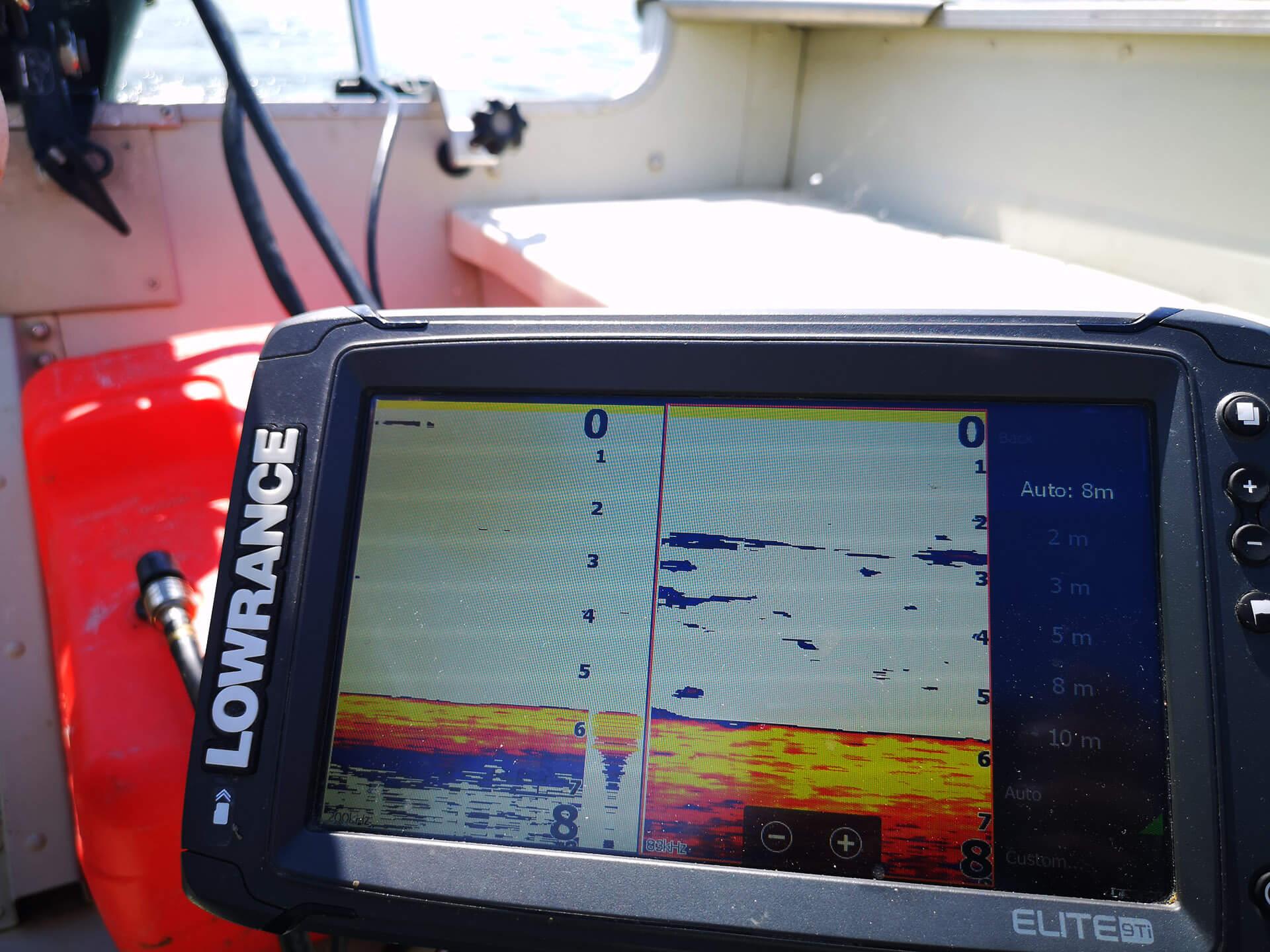 cloncul in pescuitul somnului cu sonar
