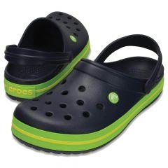 Crocs Navy Volt Green Lemon, marime M8W10