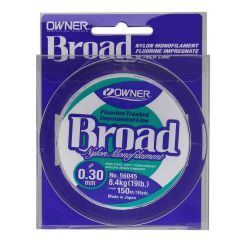 Fir Monofilament Owner Broad Fluorine Treated, 0.12mm/1.50kg/150m