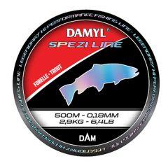 Fir monofilament D.A.M Damyl Spezi Line Trout 0.22mm/4.3kg/500mn