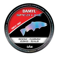 Fir monofilament D.A.M Damyl Spezi Line Trout 0.25mm/2.2kg/500mn