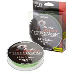 Fir textil Daiwa Tournament 8 Braid Evo Chartreuse 0.12mm/8.6kg/135m