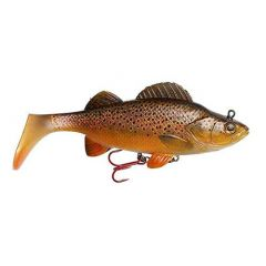 Swimbait D.A.M Effzett Natural Perch Paddle Tail 14cm/47g, Brown Trout