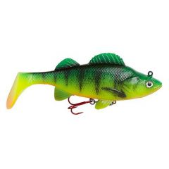Swimbait D.A.M Effzett Natural Perch Paddle Tail 14cm/47g, Fire Perch