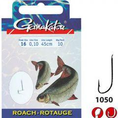 Carlige legate Gamakatsu Roach Nickel Nr.16/0.10mm