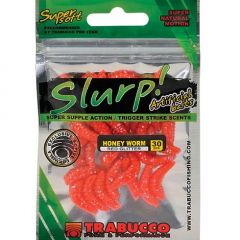 Trabucco Slurp Bait Honey Worm, culoare Red Glitter