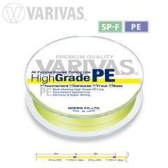 Fir textil Varivas High Grade PE Yellow Fluo 14.9lb/150m