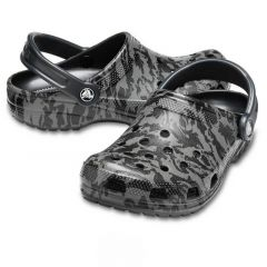 Crocs Classic Printed Camo Clog Black, marime M8W10
