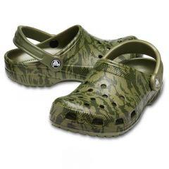 Crocs Classic Printed Camo Clog Amy Green, marime M8W11