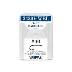 Carlige Varivas Fly 2430V-WBL Wet Barbless Nr.10