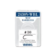 Carlige Varivas Fly 2430V-WBL Wet Barbless Nr.12