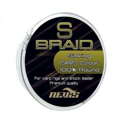 Fir textil Nevis S Braid Camo, 0.22mm/17.1kg/15m