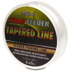 Fir monofilament Team Feeder Tapered Leader 0.195-0.028mm
