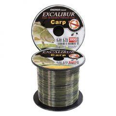 Fir monofilament EnergoTeam Excalibur Carp Camou 0,20mm/3000m