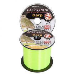Fir monofilament EnergoTeam Excalibur Carp Fluo Yellow 0,20mm/3000m