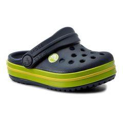 Papuci Crocs Crocband Clog K Navy Volt Green, marime J2