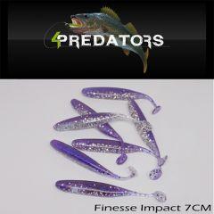 Shad 4Predators Finesse Impact Standard 7cm, culoare S030