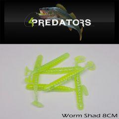 Shad 4Predators Worm Shad Standard 8cm, culoare S030