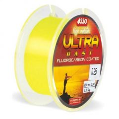 Fir monofilament Asso Ultra Cast Yellow Fluo 0.20mm/6.5kg/300m