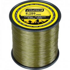Fir monofilament D.A.M MAD X-Tra Tuff Carp Line Olive Green 0.28mm/5.7kg/1600m