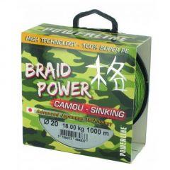 Fir textil Powerline Braid Power Camou 0.35mm/30kg/110m