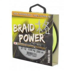 Fir textil Powerline Braid Power Yellow 0.14mm/11kg/110m
