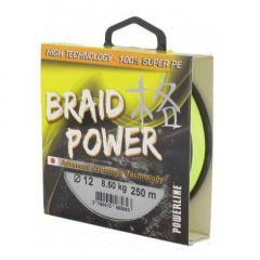 Fir textil Powerline Braid Power Yellow 0.20mm/18kg/110m