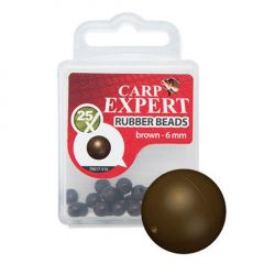 Carp Expert Rubber Beads Brown 5mm