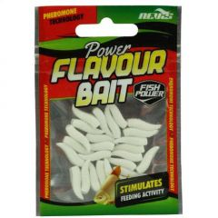 Nevis Power Flavour Bait Maggot White 1.5cm