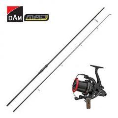 Kit Lanseta DAM MAD N-BR 3,90m 13' 3,50Lbs + Mulineta DAM Quick ZCast FD