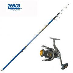 Kit Lanseta Zebco Trophy Tele Float 4.90m 35gr + Mulineta Zebco Cool Extra FD 120
