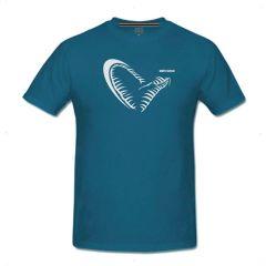 Tricou Savage Gear Simply Savage Jaw Blue Marin, marime XL