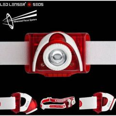 Lanterna cap Led Lenser SEO5 Rosu 3XAAA