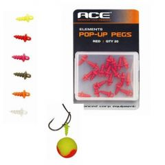 Stopper ACE Pop Up Pegs - Fluorescent Red