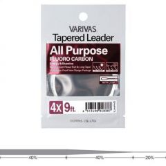 Fly Leader Varivas All Purpose Fluoro 9ft 4X