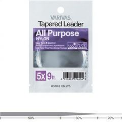Fly Leader Varivas All Purpose Nylon 9ft 4X