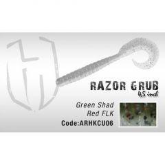 Grub Herakles Razor Grub 11.4cm Green Shad Red Flk