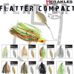 Colmic Herakles Spinnerbait Flatter Compact 7gr. - Chartreuse/White